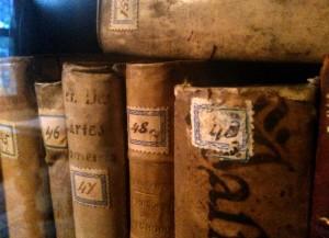 Boekenkast met o.a. Descartes - Spinozahuisje - copyright Olwen Harkema